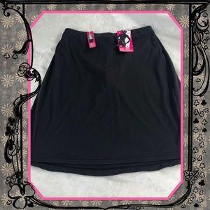Tummy toning slip skirt shapewear brief built in